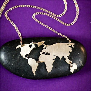 World Map Designed Necklaces
