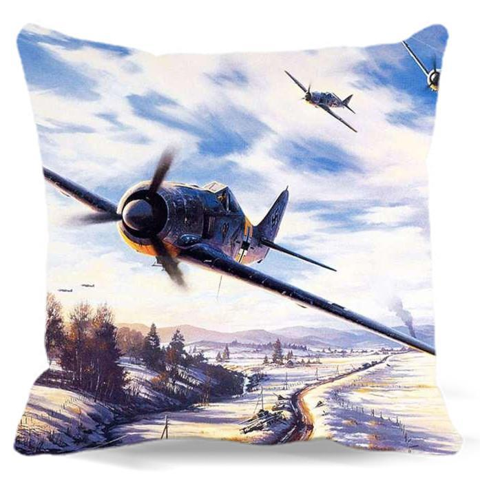 World War II Designed Pillow Cases