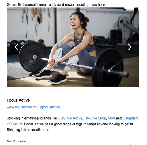 Focus Active Activewear Singapore Fitness Apparel Online