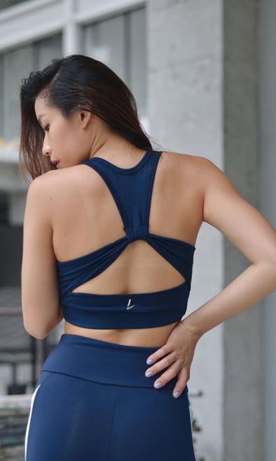 Breathe Ruched Back Bra (Navy Blue) | Liberty Active - Focus Active, Shop Best Activewear Singapore, Affordable Activewear