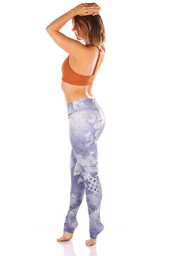 Kaya Scrunch Print Leggings | Mika - Focus Active, Shop Best Activewear Singapore, Affordable Activewear