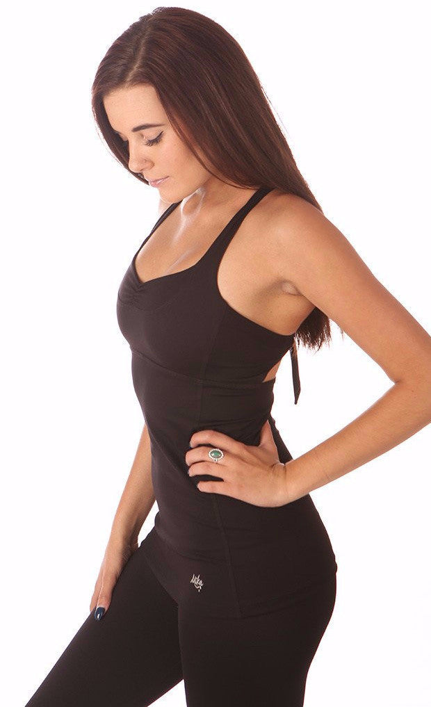 Linda Top Black | Mika - Focus Active, Shop Best Activewear Singapore, Affordable Activewear