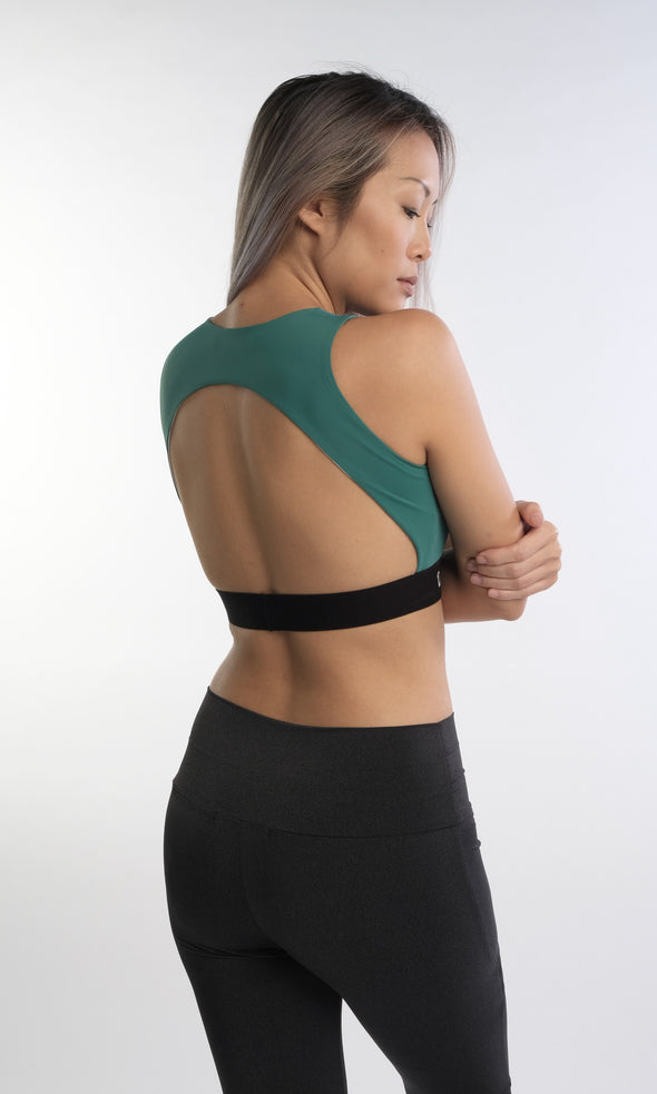 Hannah Holloback Bra (Green) | Rangoon - Focus Active, Shop Best Activewear Singapore, Affordable Activewear
