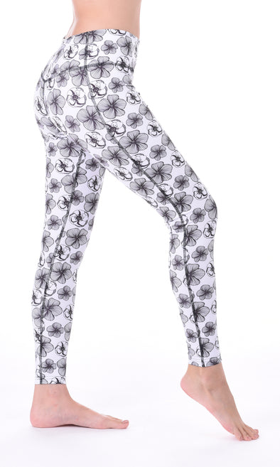 Linnea Leggings (White Flowers) | Outfyt - Focus Active, Shop Best Activewear Singapore, Affordable Activewear