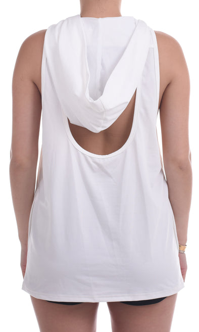 Hilda Sleeveless Hoodie (White) | Outfyt - Focus Active, Shop Best Activewear Singapore, Affordable Activewear