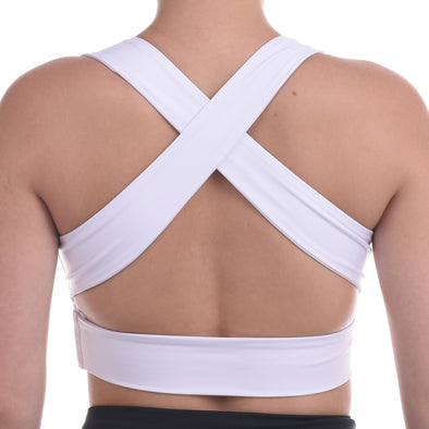 Lilly V Bra (White) | Outfyt - Focus Active, Shop Best Activewear Singapore, Affordable Activewear