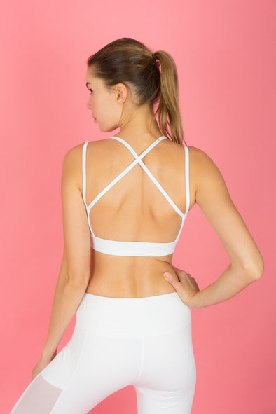 I-like-em Strappy Bra (Snow) | Rangoon - Focus Active, Shop Best Activewear Singapore, Affordable Activewear