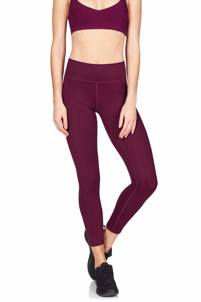 Zanna 7/8 Tight - Supplex Black Cherry | Vie Active - Focus Active, Shop Best Activewear Singapore, Affordable Activewear