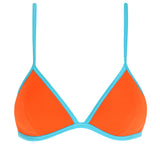CELINE - Orange with Turquoise Binding Neoprene Bikini