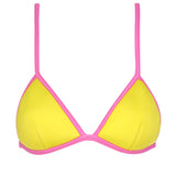 ELLA - Lime with floro shocking pink binding
