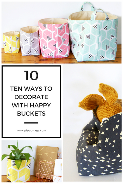Ten Ways to Decorate with Happy Buckets