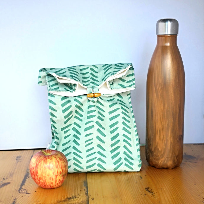 Washable Lunch Bag | Eco Canvas - Aqua