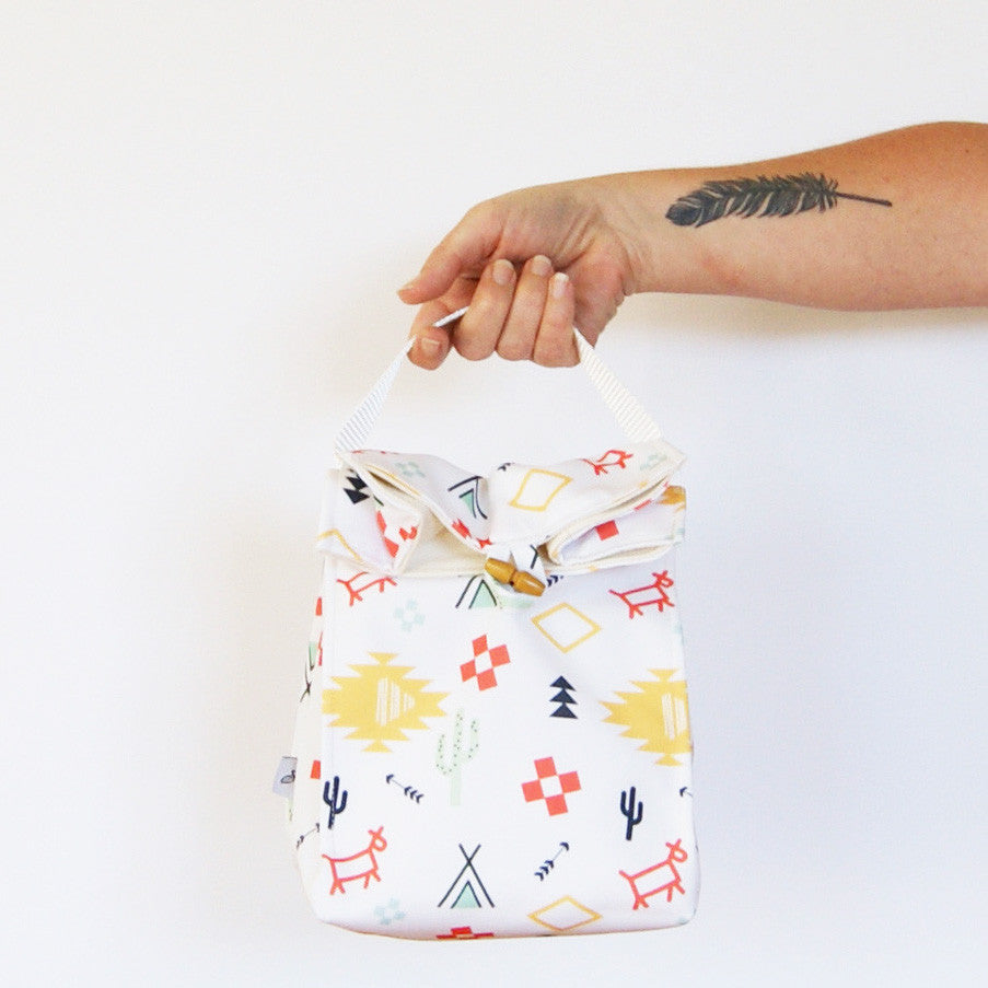 Rubbish Free Lunch Bags, designed and made in Nelson, New Zealand from Eco Canvas.