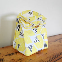 Waste Free, Washable  Lunch Bags, made from Eco Canvas and lined with Hemp / Organic cotton canvas.