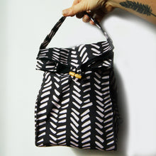 Washable Lunch Bag | Eco Canvas - Pink on black