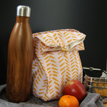 Washable Lunch Bag | Eco Canvas - Pink and Mustard