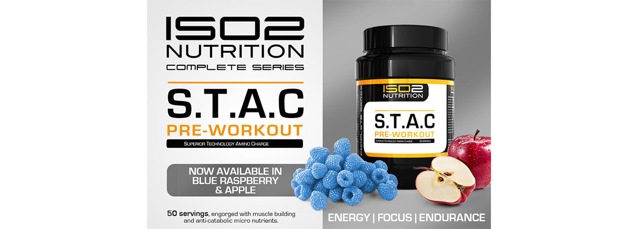 S.T.A.C PreWorkout blue raspberry and apple