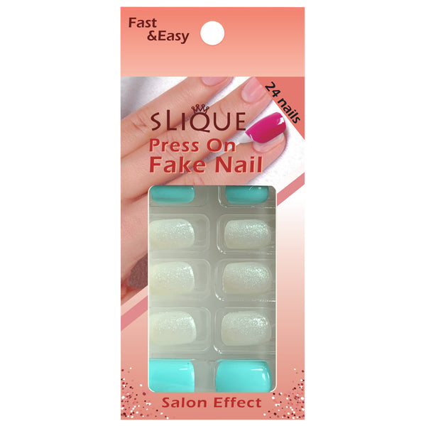 Slique Press On Nails - Small Short Square