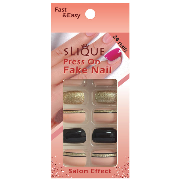 Slique Press On Nails - Medium Square