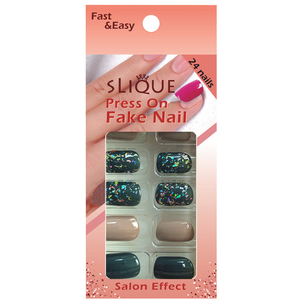 Slique Press On Nails - GG Short Square
