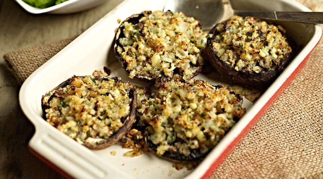 Roast Stuffed Portobello Mushrooms