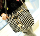 Moushart Deals bag Houndstooth / (30cm<Max Length<50cm) Bohemian Canvas Purse Bag