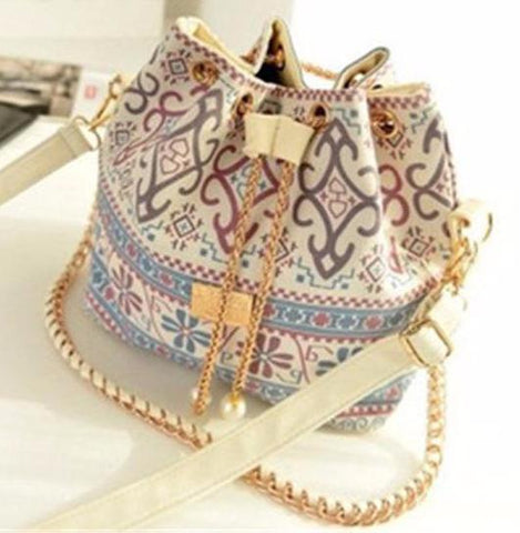 Moushart Deals bag printing / (30cm<Max Length<50cm) Bohemian Canvas Purse Bag