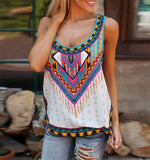 Moushart Deals blouse Bohemian Print Sleeveless Loose Blouse