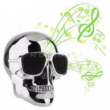 Moushart Deals bluetooth speaker Gloss Silver NO Box Skull Wireless Bluetooth Speaker