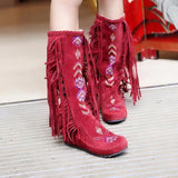 Moushart Deals Boots Red / 4 Native American Fashion Boots - Plus Sizes Available