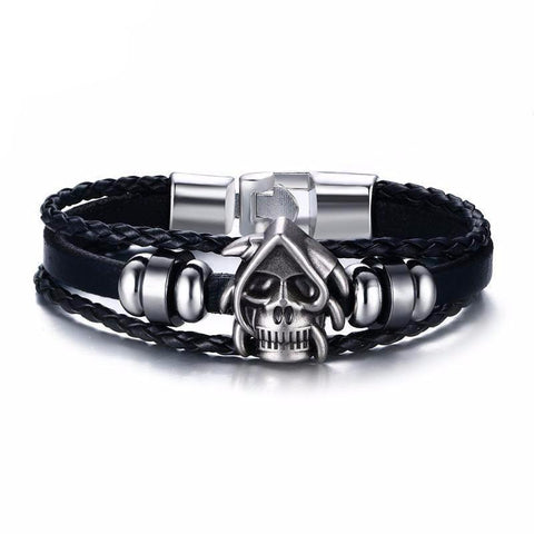 Moushart Deals bracelet Skull  PU Leather Bracelet