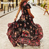 Moushart Deals dress Summer Boho Dress Ethnic Sexy Print Retro Vintage Dress - Plus Sizes Available