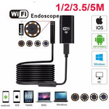 Moushart Deals Endoscope 3.5m Soft Wire / 8mm Wifi Endoscope Camera