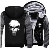 Moushart Deals hoodie Black & Grey / M Punisher Skull Cosplay Unisex Hoodie