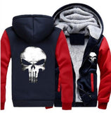 Moushart Deals hoodie Blue & Red / M Punisher Skull Cosplay Unisex Hoodie