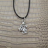 Moushart Deals necklace Aquarius / Silver Vintage Silver Zodiac Signs Pendant 17""