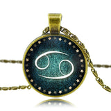 Moushart Deals Necklace Cancer / Antique Bronze Zodiac Pendant Necklace Antique Bronze