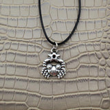 Moushart Deals necklace Cancer / Silver Vintage Silver Zodiac Signs Pendant 17""