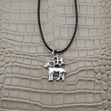 Moushart Deals necklace Capricorn / Silver Vintage Silver Zodiac Signs Pendant 17""