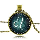 Moushart Deals Necklace Leo / Antique Bronze Zodiac Pendant Necklace Antique Bronze