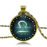 Moushart Deals Necklace Libra / Antique Bronze Zodiac Pendant Necklace Antique Bronze
