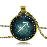 Moushart Deals Necklace Sagittarius / Antique Bronze Zodiac Pendant Necklace Antique Bronze