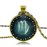 Moushart Deals Necklace Virgo / Antique Bronze Zodiac Pendant Necklace Antique Bronze