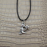 Moushart Deals necklace Virgo / Silver Vintage Silver Zodiac Signs Pendant 17""