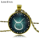 Moushart Deals Necklace Zodiac Pendant Necklace Antique Bronze