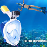 Moushart Deals Snorkel Mask Blue L XL Snorkel Diving Mask with Anti-skid Ring