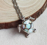 Moushart Deals Turtle Necklace Opal Sea Turtle Necklace - Free Shipping