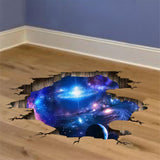 Moushart Deals wall sticker Multi-color Outer Space Planets 3D Wall Stickers