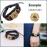 Moushart Deals Zodiac Bracelet 12 Zodiac Constellations Leather Bracelet for Women