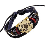 Moushart Deals Zodiac Bracelet Cancer / Brown 12 Zodiac Constellations Leather Bracelet for Women
